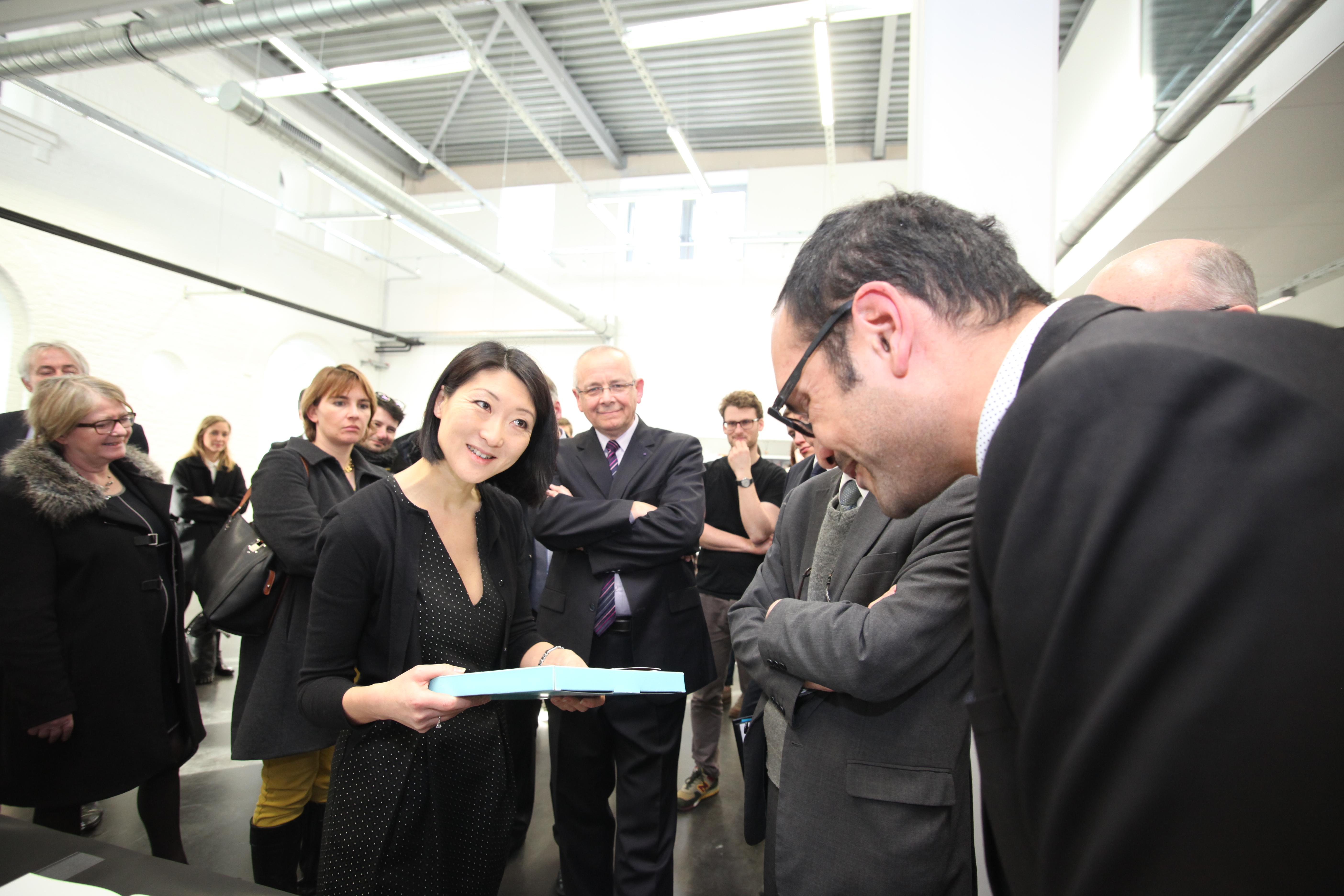 Visite de Madame la Ministre de la Culture & de la Communication à l'École supérieure d'art de Cambrai.
